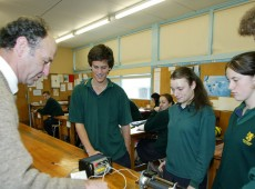 Students at New Plymouth's Spotswood College engaged in learning.
