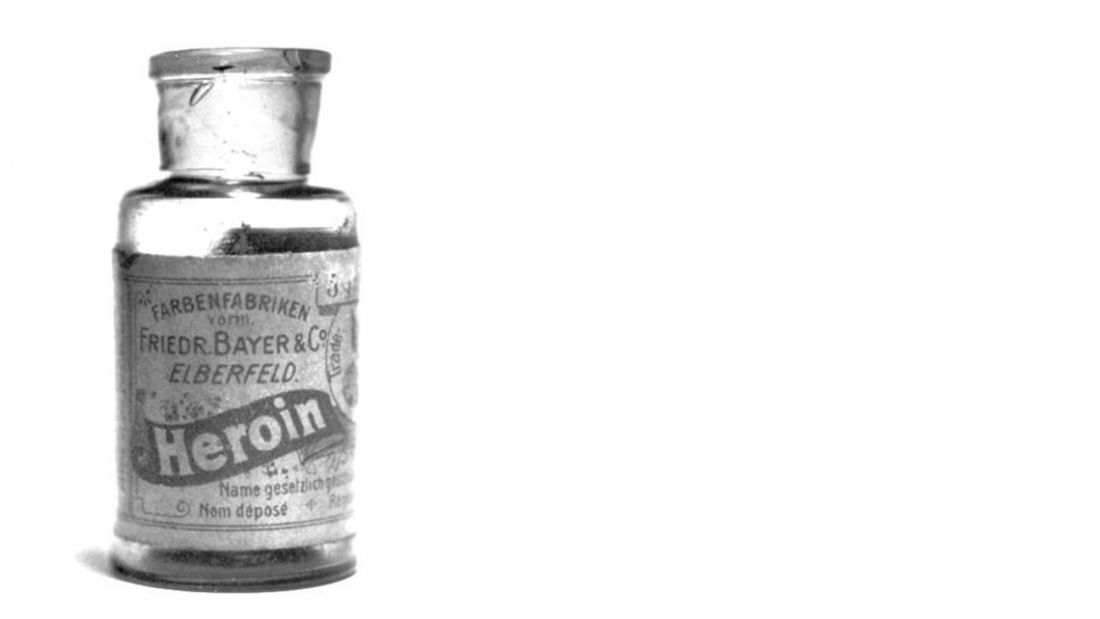 heroin bottle retro