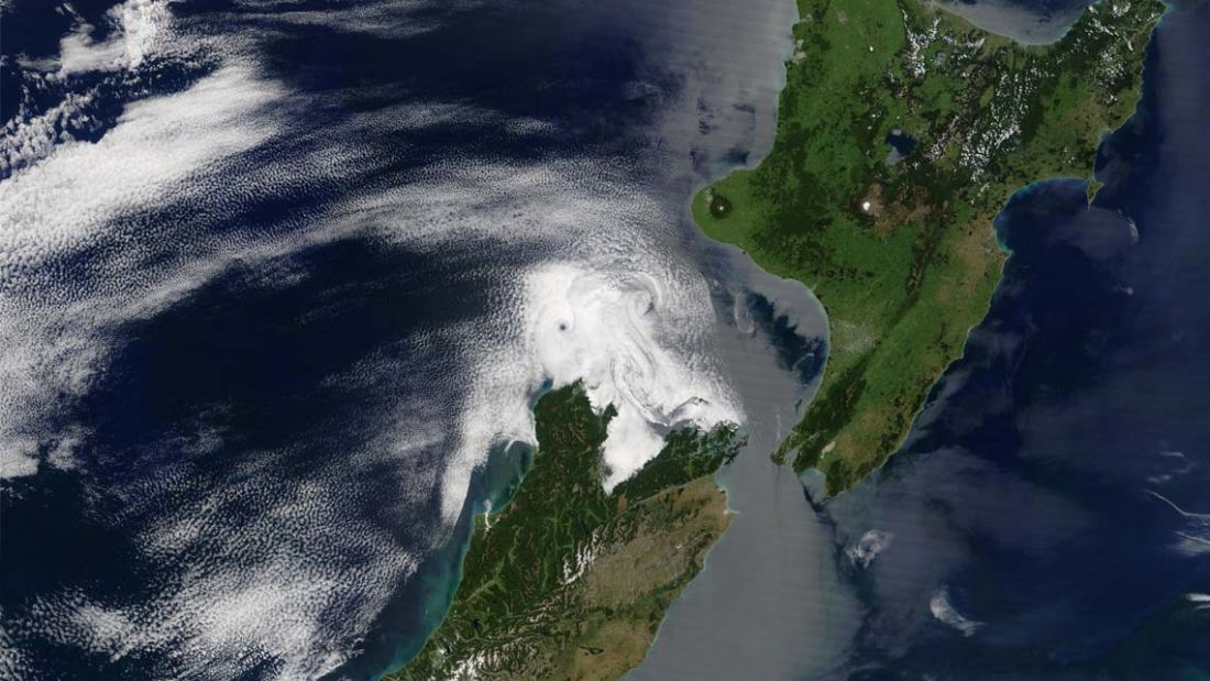 satellite view of new zealand