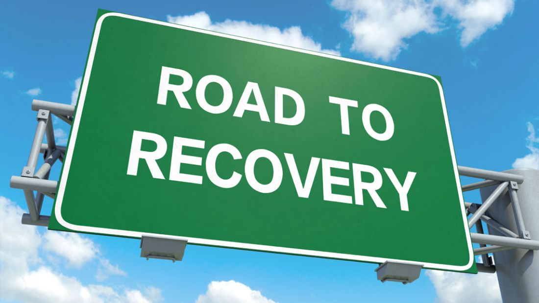 road to recovery roadsign