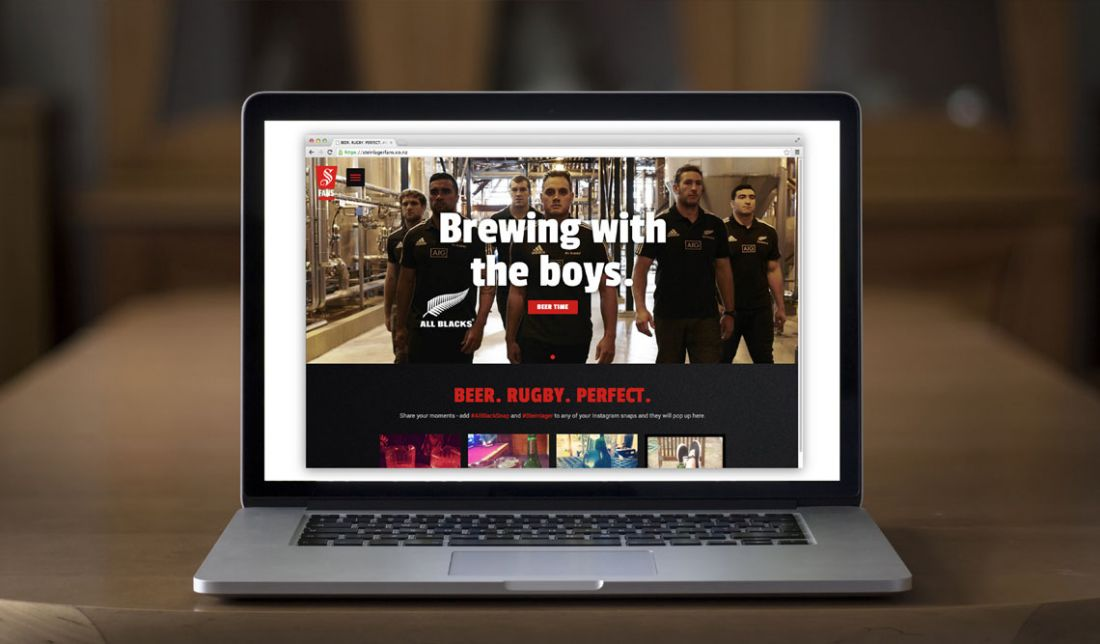 computer showing brewing with the boys - beer. rugby. perfect