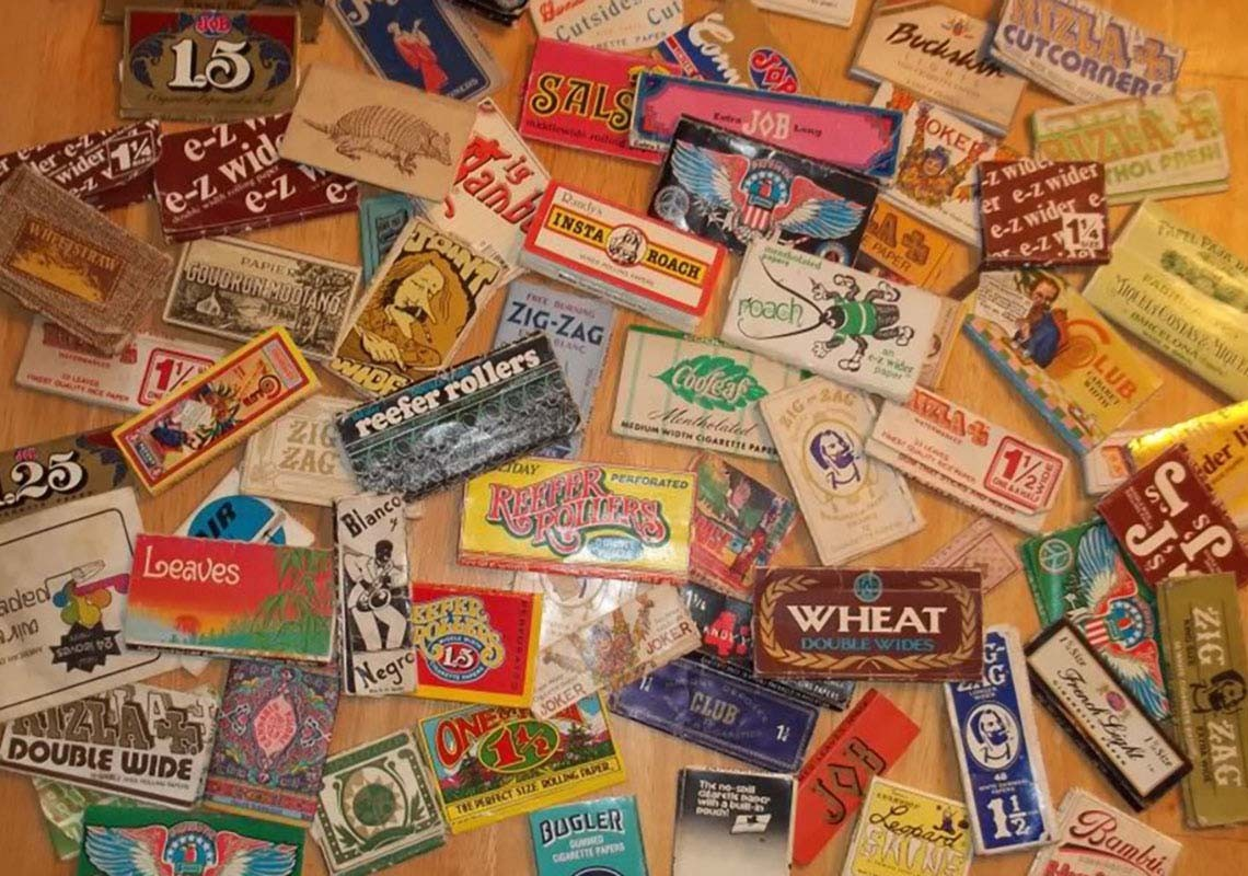 Colourful cigarette papers