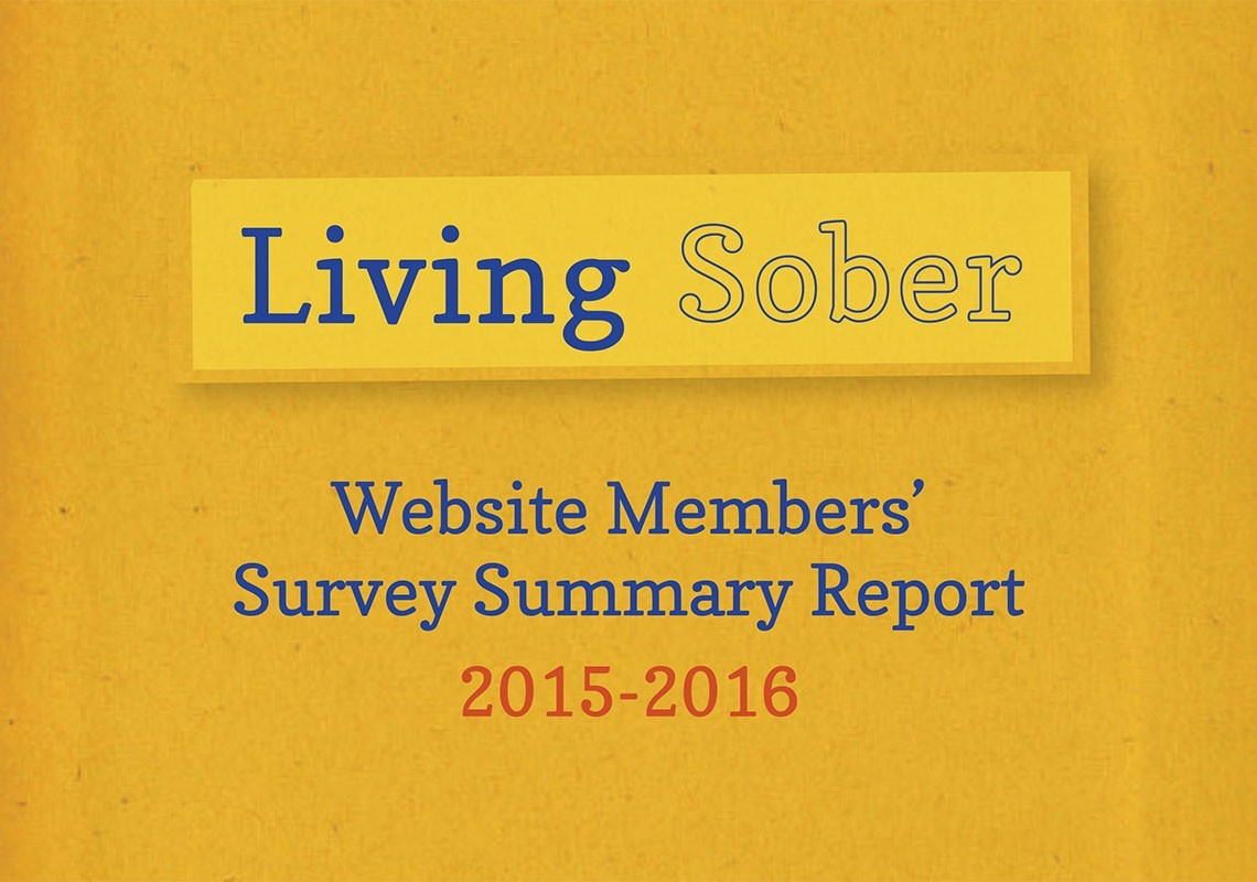 """Living Sober website members' survey summary repo"
