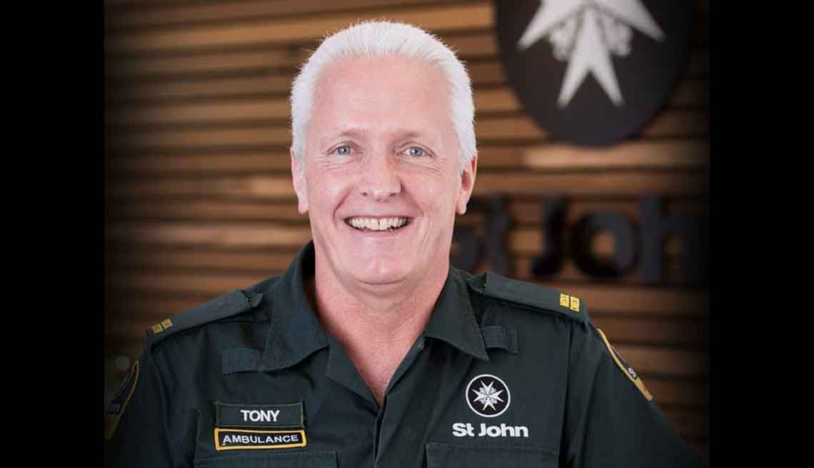 Dr Tony Smith, in St John Ambulance uniform
