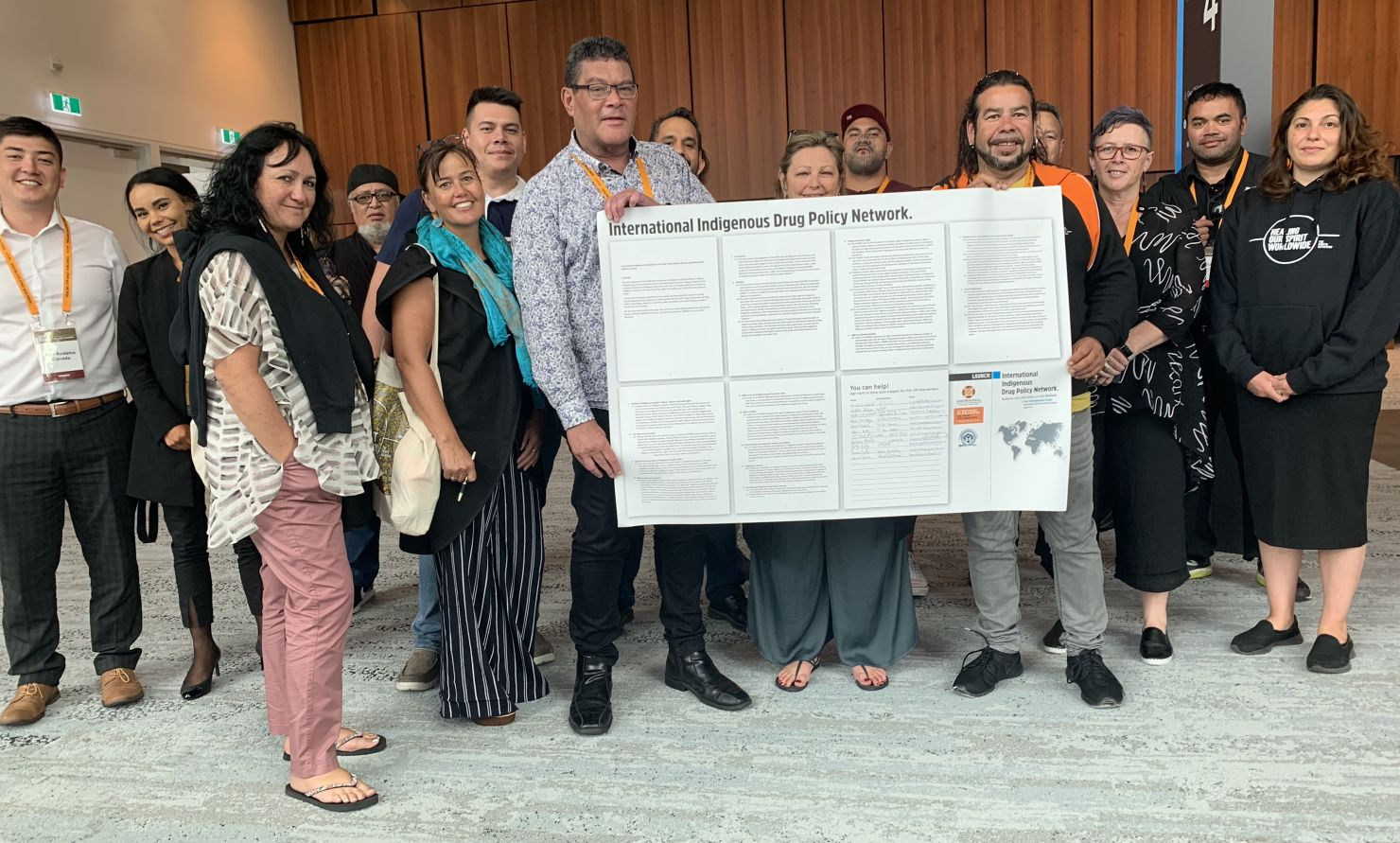 International Indigenous Drug Policy Network launch - group photo