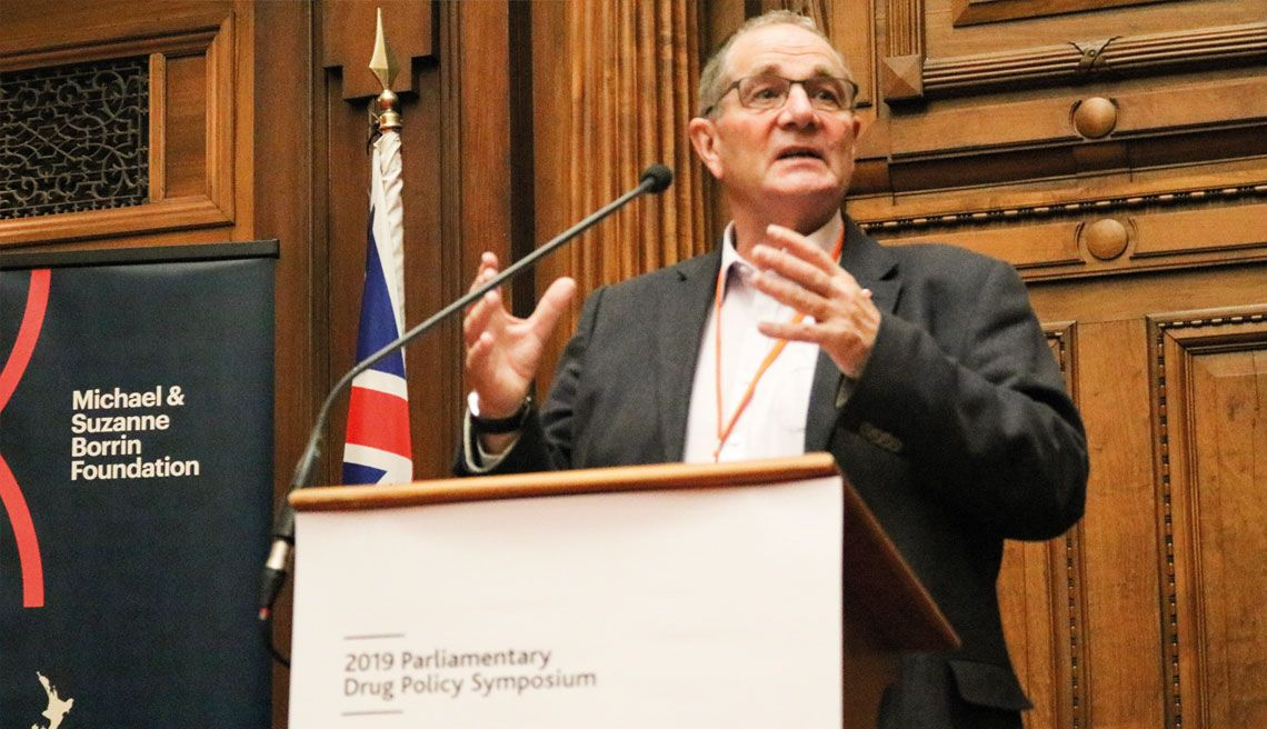 Chester Borrows speaking at the Drug Foundation's 2019 Parliamentary Drug Policy symposium